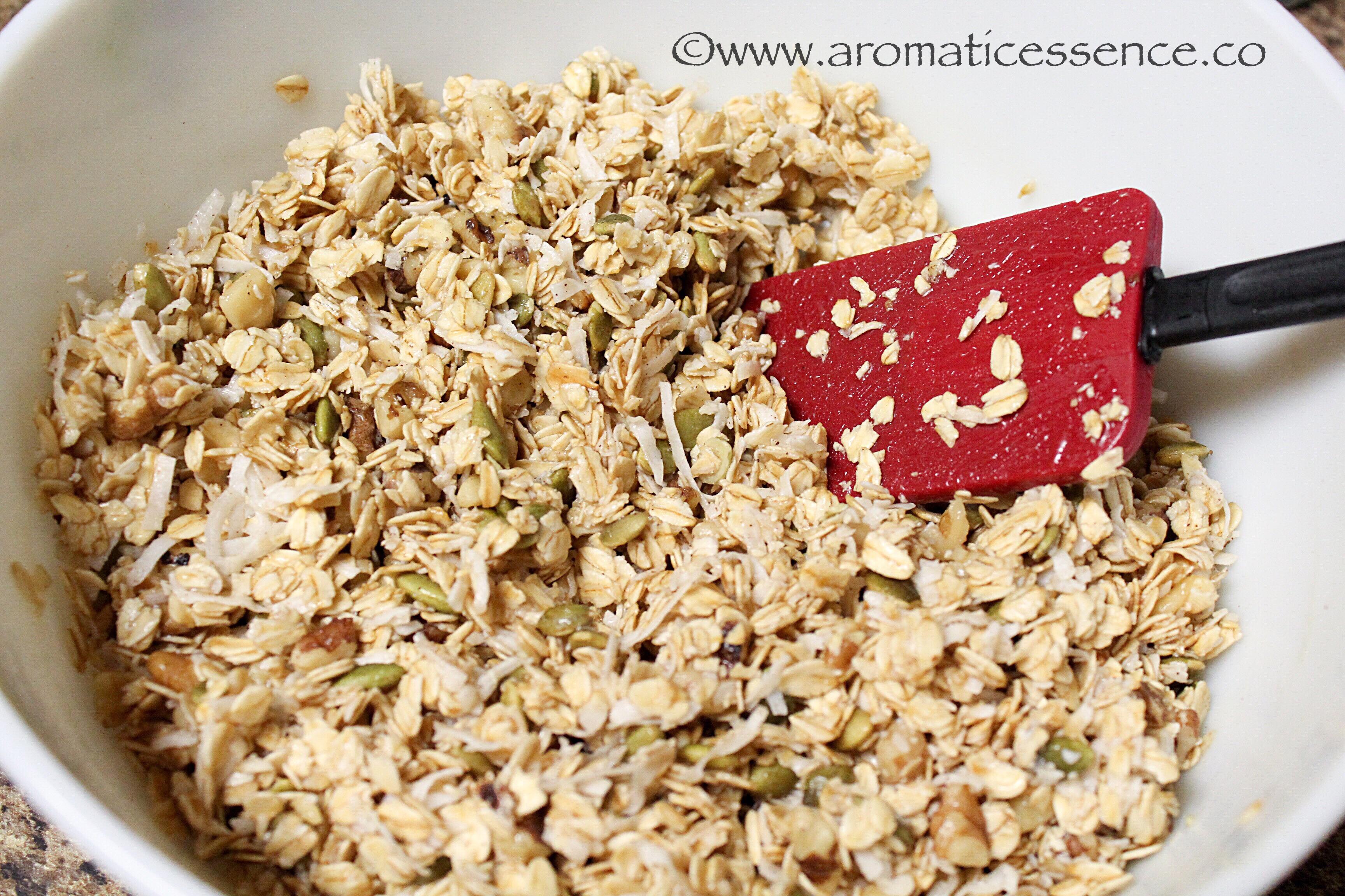 Easy homemade granola vegan granola aromatic essence how to make granola vegan granola ccuart Image collections