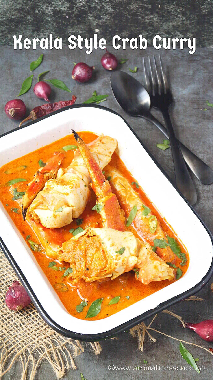 Crab Curry Recipe With Coconut   Kerala Njandu Curry